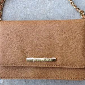 Steve Madden Light Brown Cognac Crossbody Bag